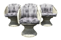 Russell Woodard Spun Fiberglass Chairs - Set of 4 | Chairish