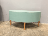 Distressed Shabby Chic Round Coffee Table | Chairish