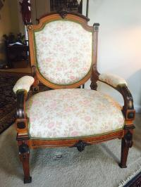 Antique Reupholstered French Armchair | Chairish