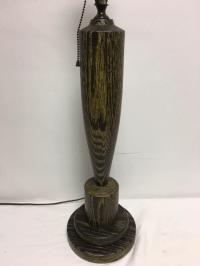 Turned Wood Mid-Century Table Lamp   Chairish