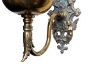 Brass Wall Bracket Oil Lamp | Chairish