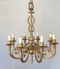 Solid Brass Hollywood Regency Chandelier   Chairish
