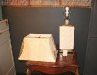Contemporary Creamy White Table Lamp   Chairish