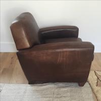 Restoration Hardware French Leather Club Chair | Chairish