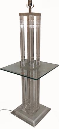Square Lucite Floor Lamp | Chairish