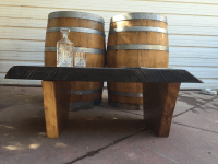Dark Walnut Slab Coffee Table | Chairish