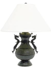 Chinese Dragon Handle Table Lamp | Chairish