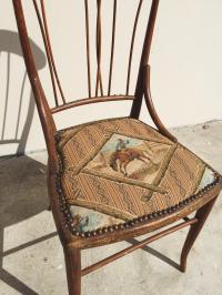 "Antique Victorian Wood ""Cowboy"" Chair | Chairish"