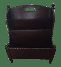 Wooden Magazine Holder | Chairish