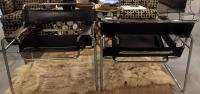 Mid-Century Italian Wassily Chrome & Leather Chairs - Pair ...