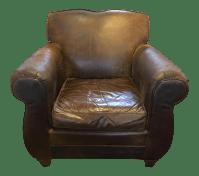 Restoration Hardware Leather French Club Chair | Chairish