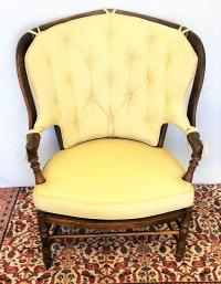 Vintage French Country Oversized Chair | Chairish