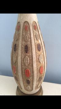 Mid Century Danish Modern Pottery Table Lamp | Chairish