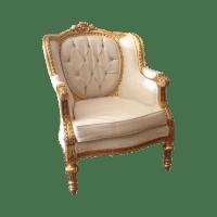 French Louis XVI Style White & Gold Chair | Chairish