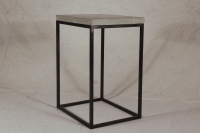Industrial Concrete End Table | Chairish