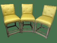 Custom Hickory Chair Bar Stools - Set of 3 | Chairish