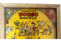 1930s Pinball Rodeo Game Wall Decor | Chairish