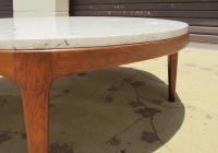 Danish Modern Round Stone Top Coffee Table by Lane | Chairish