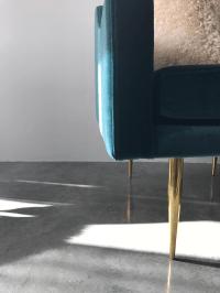 Mid-Century Modern Velvet Accent Chair   Chairish