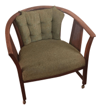 Mid-Century Barrel Chair | Chairish