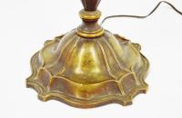 Vintage Bronze Pull Chain Floor Lamp | Chairish