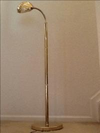 Mid Century Modern Brass Shell Floor Lamp | Chairish