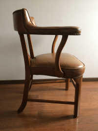 Mid-Century Modern Leather Accent Chair | Chairish