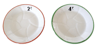French Bistro Plates - Pair | Chairish