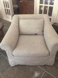 Restoration Hardware Roll Arm Slipcoverd Chair   Chairish