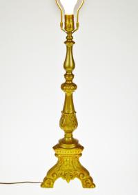 Vintage Hollywood Regency Painted Table Lamp | Chairish