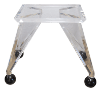 Mid-Century Modern Lucite & Glass Dining Table | Chairish