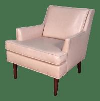 Mid-Century Modern Pink Vinyl Lounge Chair   Chairish