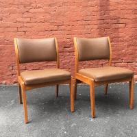 Mid-Century Armless Gunlocke Chairs - A Pair | Chairish