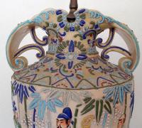 Vintage Japanese Satsuma Table Lamp | Chairish