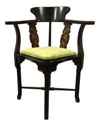 Lane Vintage Mid-Century Corner Chair | Chairish