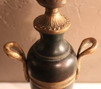Vintage Bronze Urn Lamp | Chairish