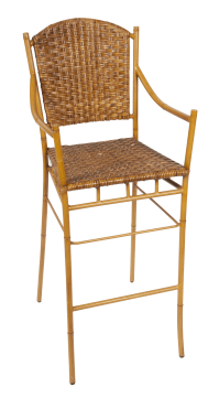 Faux Bamboo Bar Stool | Chairish