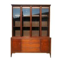 Mid-Century Walnut China Cabinet | Chairish