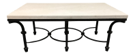 Kolkka Furniture Wrought Iron & Marble Coffee Table