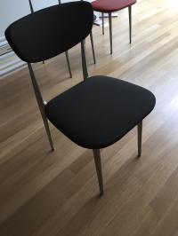 Vintage Contemporary Black Dining Chairs - Set of 6 | Chairish