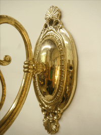 Vintage Brass Electric Wall Sconces - Pair | Chairish