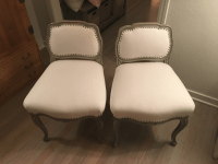 Antique Reupholstered Swedish Chairs - A Pair | Chairish