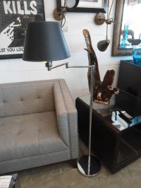 Hinson Double Swing Arm Floor Lamp | Chairish