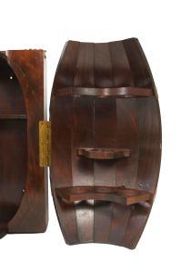 Whisky Barrel Liquor Cabinet | Chairish