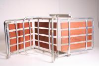 Mid Century Redwood Aluminum Folding Chaise Lounge Chair