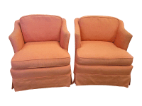 Vintage Upholstered Swivel Chairs
