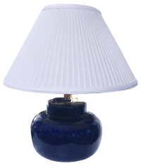 Mid-Century Cobalt Blue Table Lamp | Chairish