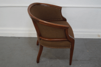 Hickory Chair Solid Mahogany Barrel Back Arm Chair | Chairish