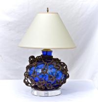Blue Glass Fish Float Lamp   Chairish