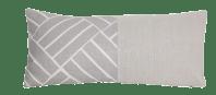 Gray Diagonal Linen Lumbar Pillow | Chairish